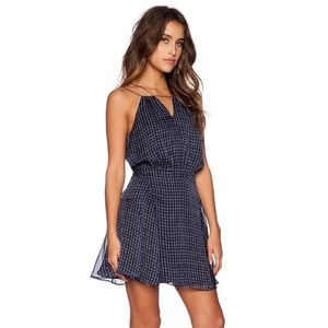Greylin Viviana Keyhole Dress in Navy
